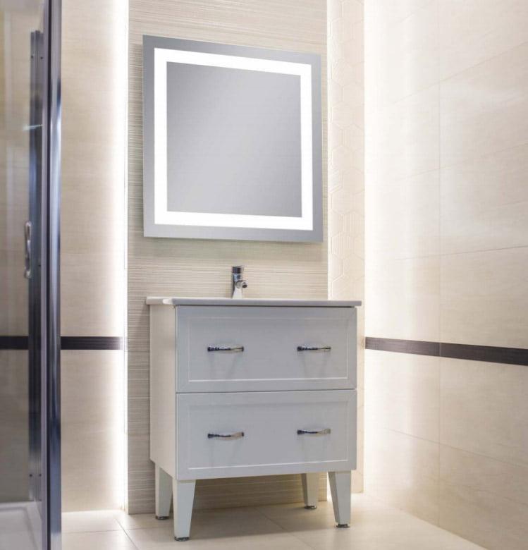 lustra do łazienki z oświetleniem